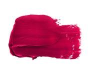 Rosafarbene Lippenstift-Schmierstelle Stockfotografie