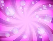 Rosafarbene Luftblasen Lizenzfreie Stockbilder