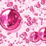 Rosafarbene Luftblasen stock abbildung