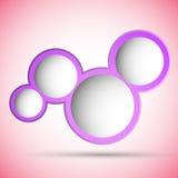 Rosafarbene Luftblasen mit Platz für Text Lizenzfreie Stockfotografie