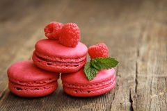 Rosafarbene macarons Lizenzfreies Stockfoto