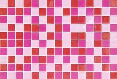 Rosafarbene Mosaikfliesen Lizenzfreies Stockfoto