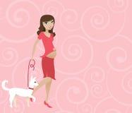 Rosafarbene Mutter Stockbild