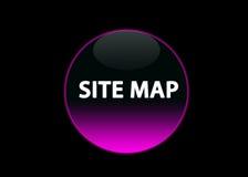 Rosafarbene Neonbuttom Site-Karte Stockfoto