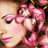 Rosafarbene Orchideen Lizenzfreie Stockfotos