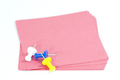 Rosafarbene Papieranmerkung Lizenzfreie Stockbilder