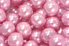 Rosafarbene Perlen Lizenzfreies Stockbild