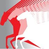 Rosafarbene Pferde Lizenzfreie Stockbilder