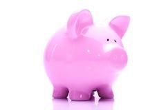 Rosafarbene piggy Querneigung lizenzfreies stockfoto