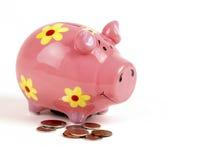 Rosafarbene Piggy Querneigung Lizenzfreie Stockbilder
