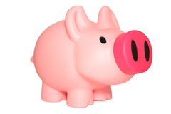 Rosafarbene piggy Querneigung Lizenzfreies Stockbild