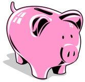 Rosafarbene piggy Querneigung vektor abbildung