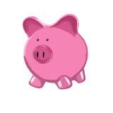 Rosafarbene Piggy Querneigung Stockfoto