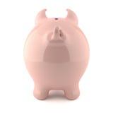 Rosafarbene piggy Querneigung - rückseitige Ansicht Lizenzfreie Stockfotografie