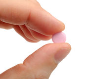 Rosafarbene Pille Stockbilder