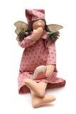 Rosafarbene Puppe mit Flügeln Lizenzfreies Stockfoto