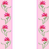 Rosafarbene Ränder mit Blumen Stockfoto