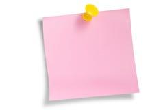 Rosafarbene Restanmerkung getrennt Stockfotos