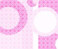 Rosafarbene Retro- geometrische Tapete Stockfotos