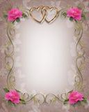 Rosafarbene Rosen, die Rand Wedding sind Lizenzfreies Stockfoto