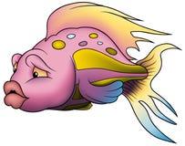 Rosafarbene schöne Fische stock abbildung