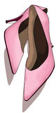 Rosafarbene Schuhe Lizenzfreie Stockbilder