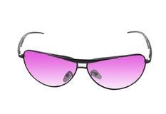 Rosafarbene Sonnenbrillen getrennt auf Weiß Lizenzfreie Stockbilder