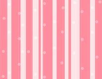 Rosafarbene Streifen und Blumenhintergrund Lizenzfreie Stockbilder