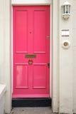 Rosafarbene Tür Lizenzfreies Stockfoto
