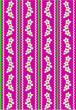 Rosafarbene Tapete des Vektorenv 10 mit den weißen Blumen Lizenzfreie Stockfotos