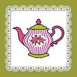 Rosafarbene Teekanne Lizenzfreie Stockbilder