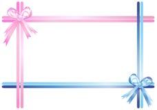 Rosafarbene und blaue Farbbänder stock abbildung