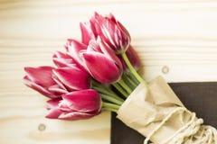 Rosafarbene und weiße Tulpen Lizenzfreie Stockfotografie