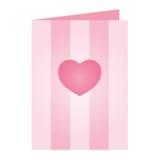 Rosafarbene Valentinsgruß-Tageskarte Stockbild