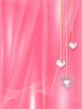 Rosafarbene Valentinsgrußinnere Stockfotos
