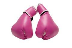 Rosafarbene Verpacken-Handschuhe Stockbild