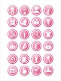 rosafarbene Web-Zeichen lizenzfreie abbildung