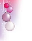 Rosafarbene Weihnachtshintergrundauslegung Stockfotos