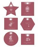 Rosafarbene Weihnachtskarte Lizenzfreies Stockbild