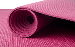 Rosafarbene Yoga-Matte Lizenzfreies Stockfoto