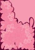Rosafarbene Zeilen Blumen Lizenzfreies Stockbild