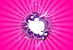 Rosafarbener abstrakter Hintergrund Lizenzfreie Stockfotografie