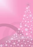 Rosafarbener abstrakter Weihnachtsbaum Lizenzfreies Stockbild