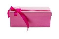 rosafarbener anwesender Kasten Stockfotos