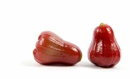 Rosafarbener Apfel zwei lokalisiert Stockbilder
