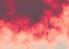 Rosafarbener Aquarellhintergrund Farbiges Bild Roter abstrakter Aquarellhintergrund Stockbild
