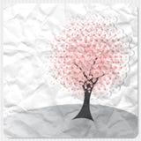 Rosafarbener Baum lizenzfreie abbildung