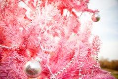Rosafarbener Baum Stockbild
