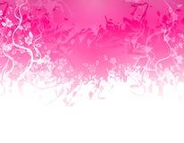 Rosafarbener Blumen-Beschaffenheits-Rand Lizenzfreie Stockbilder