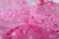 Rosafarbener Blumen-Spitze-Hintergrund Lizenzfreie Stockfotografie